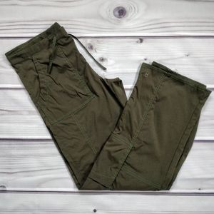 Lucy Tall Olive Drawstring Active Cargo Pants
